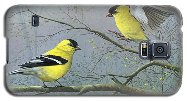 Galaxy S5 Case featuring the painting Greetings My Friend by Mike Brown
