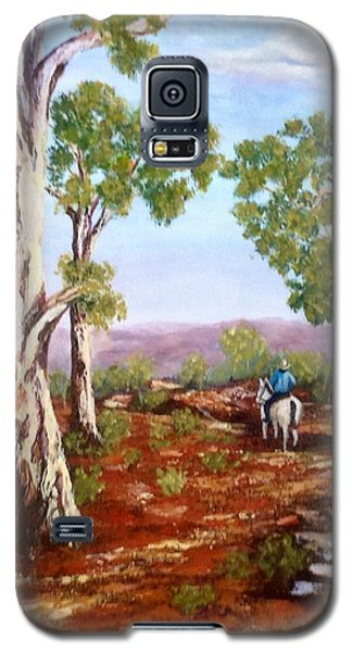 Galaxy S5 Case featuring the painting Grey Gums  by Renate Voigt