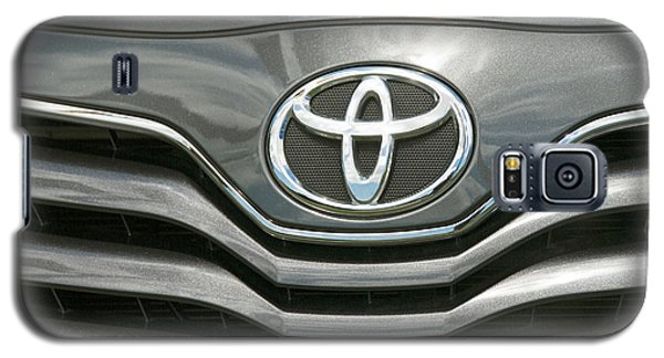Grey Toyota Grill And Emblem Smile Galaxy S5 Case by David Zanzinger