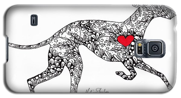 Galaxy S5 Case featuring the drawing Greyhound by Melissa Sherbon