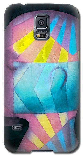 Galaxy S5 Case featuring the photograph Grid Head by Jeff  Gettis