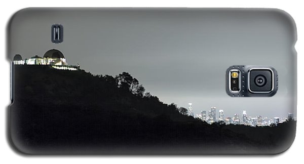 Griffith Park Observatory And Los Angeles Skyline At Night Galaxy S5 Case by Belinda Greb