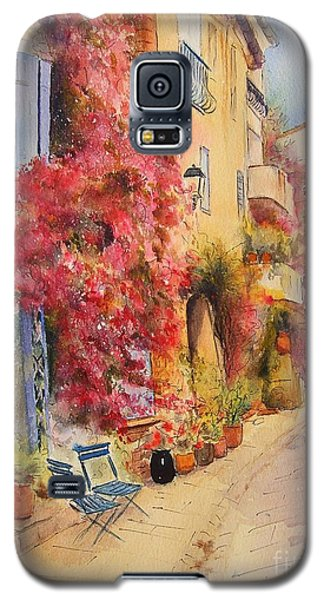 Galaxy S5 Case featuring the painting Grimauld Village by Beatrice Cloake