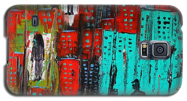 Galaxy S5 Case featuring the painting Gritty City by Everette McMahan jr