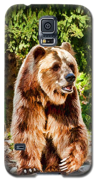 Grizzly Bear - Painterly Galaxy S5 Case by Les Palenik