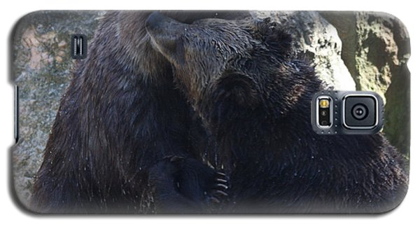 Galaxy S5 Case featuring the photograph Grizzly Bears Fighting by John Telfer
