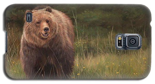 Grizzly Galaxy S5 Case by David Stribbling