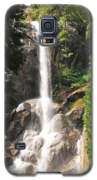 Galaxy S5 Case featuring the photograph Grizzly Falls by Mary Carol Story