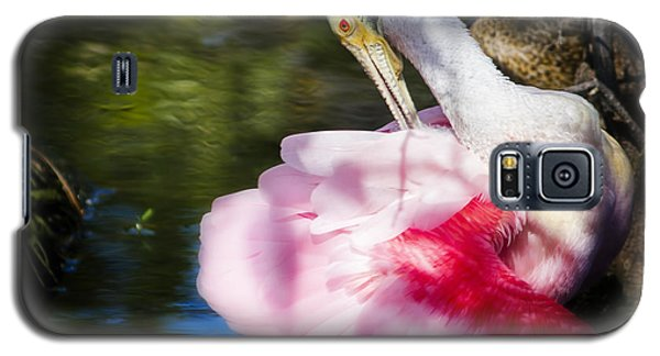 Preening Spoonbill Galaxy S5 Case by Mark Andrew Thomas