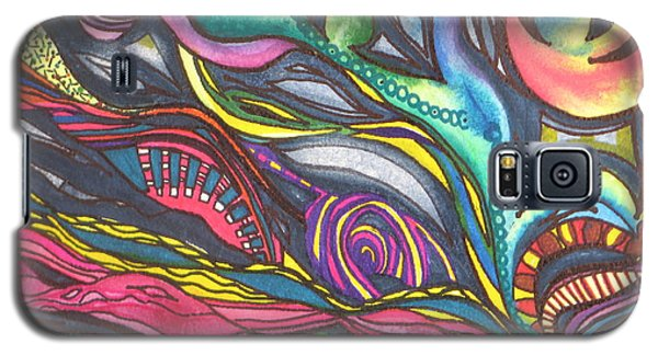 Galaxy S5 Case featuring the painting Groovy Series Titled Thoughts by Chrisann Ellis