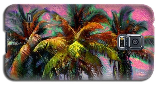 Grove Of Coconut Trees - Square Galaxy S5 Case