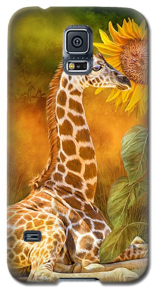 Growing Tall - Giraffe Galaxy S5 Case