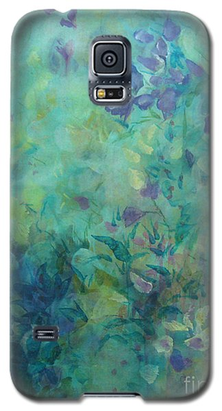 Galaxy S5 Case featuring the painting Growing Wild Ix by Elis Cooke
