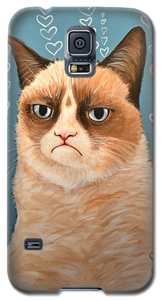 Grumpy Cat Art ... Love You Galaxy S5 Case