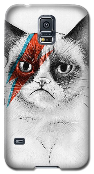 Grumpy Cat As David Bowie Galaxy S5 Case by Olga Shvartsur