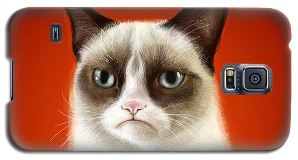 Grumpy Cat Galaxy S5 Case by Olga Shvartsur