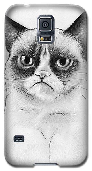 Grumpy Cat Portrait Galaxy S5 Case by Olga Shvartsur