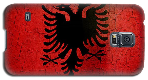 Grunge Albania Flag Galaxy S5 Case