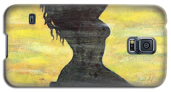 Grunge Girl Female Silhouette Pop Art Galaxy S5 Case