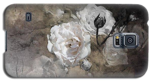 Grunge White Rose Galaxy S5 Case