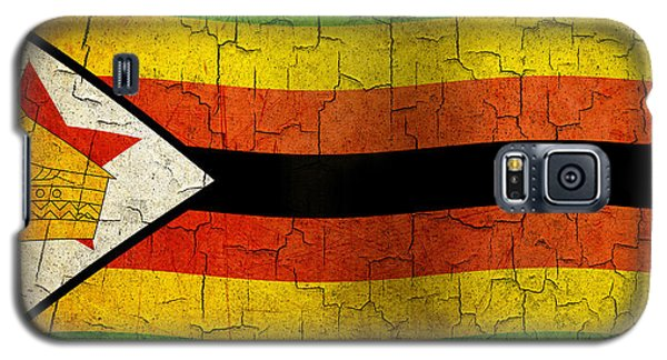 Grunge Zimbabwe Flag Galaxy S5 Case