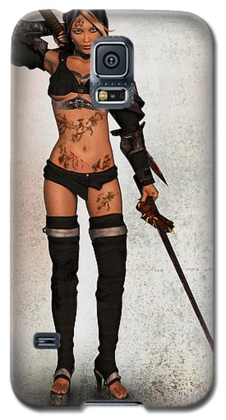 Grungy Female Warrior Galaxy S5 Case