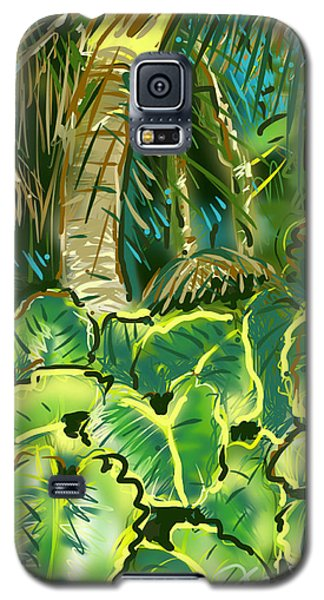 Galaxy S5 Case featuring the painting Guanabana Tropical by Jean Pacheco Ravinski