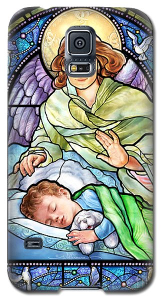 Guardian Angel With Sleeping Boy Galaxy S5 Case