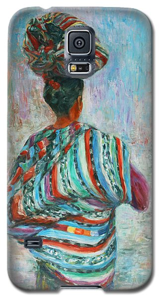 Galaxy S5 Case featuring the painting Guatemala Impression I by Xueling Zou