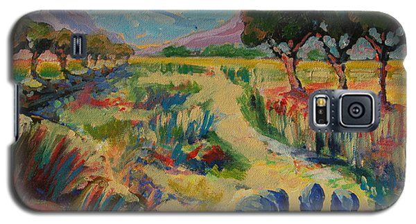 Galaxy S5 Case featuring the painting Guinea Fowl In Extensive Landscape by Thomas Bertram POOLE