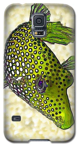 Guinea Fowl Puffer Fish In Green Galaxy S5 Case