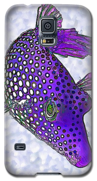 Guinea Fowl Puffer Fish In Purple Galaxy S5 Case by ABeautifulSky Photography