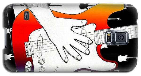 Galaxy S5 Case featuring the drawing Guitar 1 by Joseph J Stevens