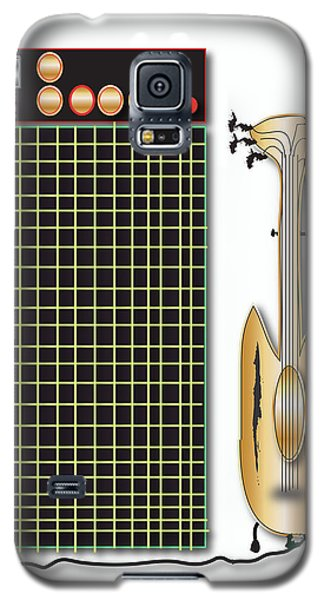 Galaxy S5 Case featuring the digital art Guitar And Amp by Marvin Blaine