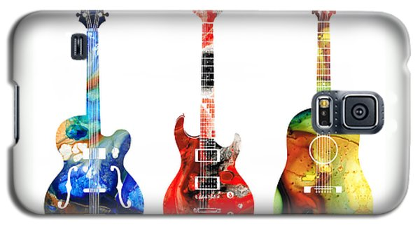 Music Galaxy S5 Case - Guitar Threesome - Colorful Guitars By Sharon Cummings by Sharon Cummings