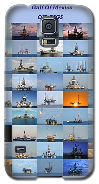 Gulf Of Mexico Oil Rigs Poster Galaxy S5 Case