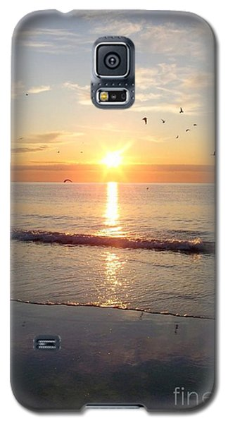 Galaxy S5 Case featuring the photograph Gulls Dance In The Warmth Of The New Day by Eunice Miller