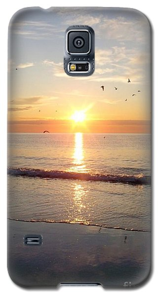 Gulls Dance In The Warmth Of The New Day Galaxy S5 Case