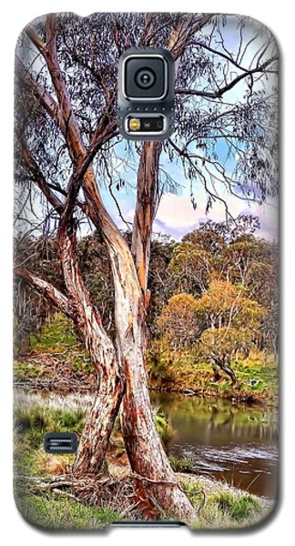Galaxy S5 Case featuring the photograph Gum Tree By The River by Wallaroo Images
