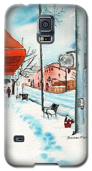 Gurley Street Prescott Arizona On A Cold Winters Day Western Town Galaxy S5 Case by Sharon Mick