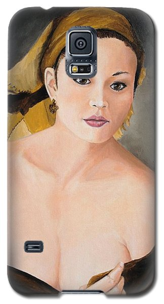 Galaxy S5 Case featuring the painting Gypsy by Alan Lakin