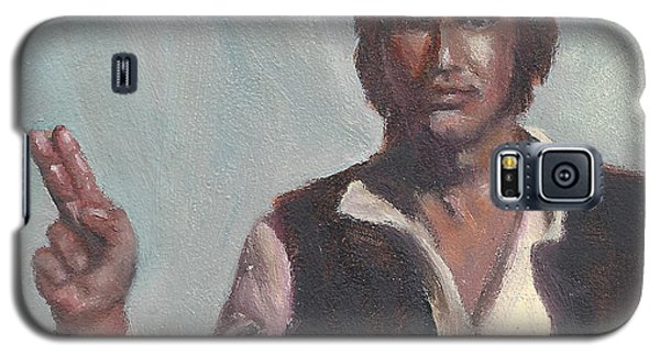 Galaxy S5 Case featuring the painting H Is For Han Solo by Jessmyne Stephenson