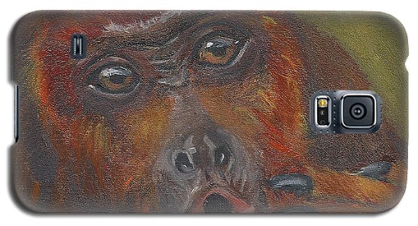 Galaxy S5 Case featuring the painting H Is For Howler Monkey by Jessmyne Stephenson