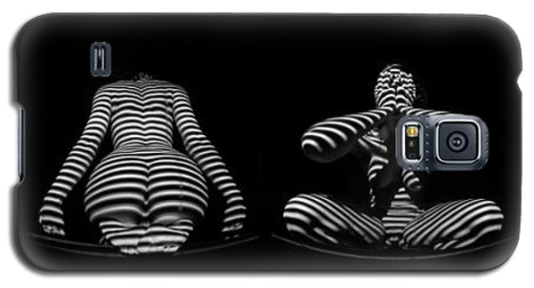 H Stripe Series One Sensual Zebra Woman Abstract Black White Nude 1 To 3 Ratio Galaxy S5 Case