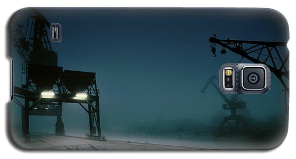 Crane Galaxy S5 Case - Habour At Night by Hans Bauer