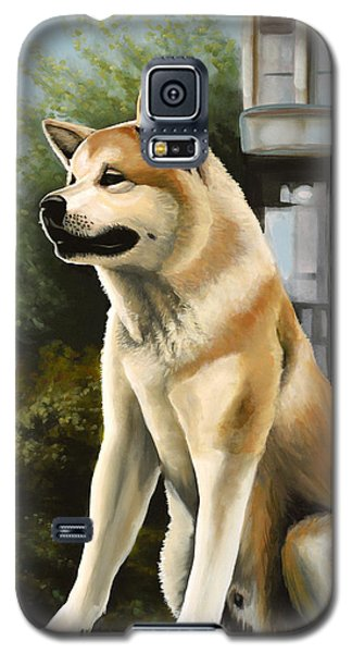 Hachi Painting Galaxy S5 Case by Paul Meijering