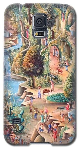 Galaxy S5 Case featuring the painting Haitian Village by Dimanche from Haiti