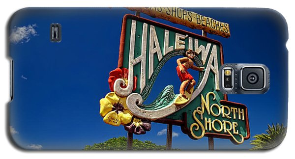 Haleiwa Sign On The North Shore Of Oahu Galaxy S5 Case