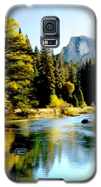 Half Dome Yosemite River Valley Galaxy S5 Case