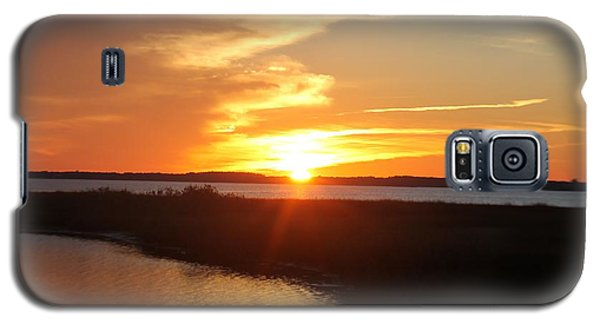Galaxy S5 Case featuring the photograph Half Sun Horizon by Robert Banach